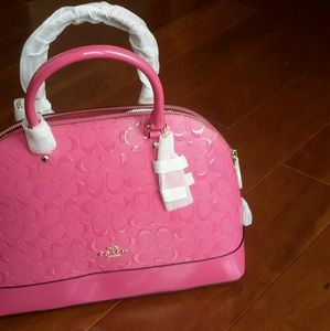 NEW WITH TAGS COACH PINK PATENT PURSE